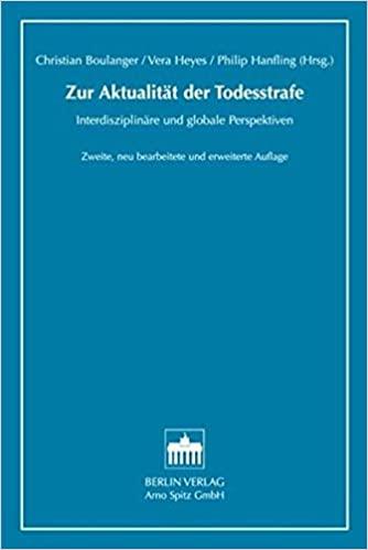 Buchcover: Zur Aktualität der Todesstrafe- Intersisziplinäre und globale Perspektive